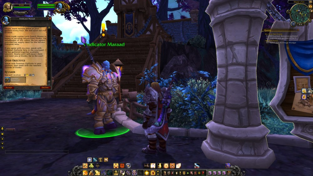 Garrison Level 2 Maraad Quest Giver